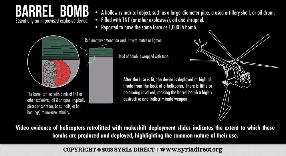 Barrel bomb.