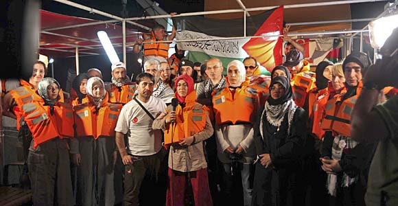 The Gaza flotilla was manned by unarmed peace activists on a humanitarian mission
