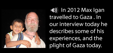 Max Igan talks about his experiences in Gaza