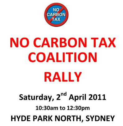 No Carbon tax Rally - Sydney