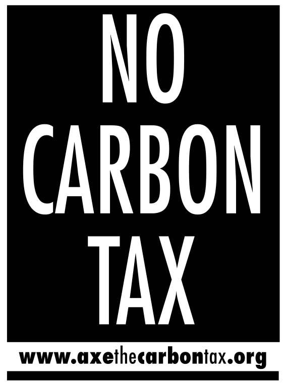 No Carbon Tax Poster