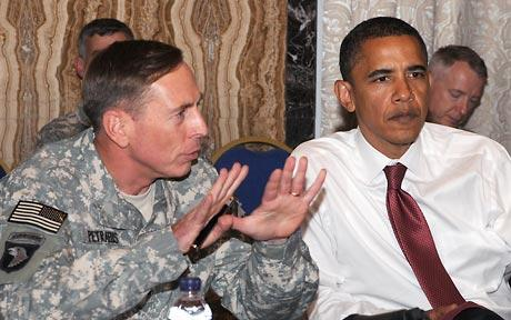The US military commander for the Middle East, General Petraeus