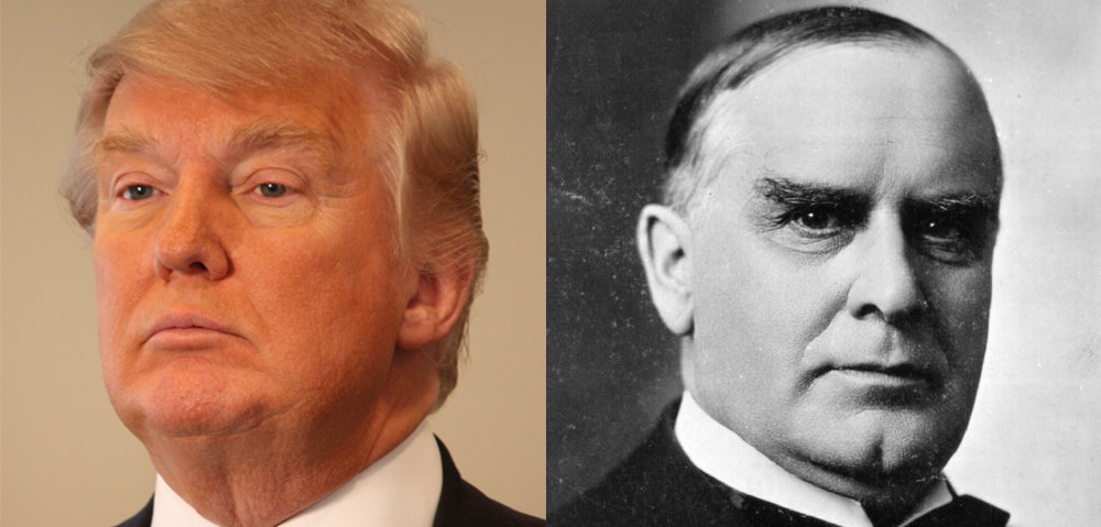 Donald Trump and William McKinley