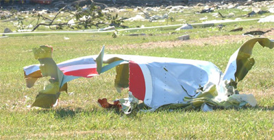 Image of Flight 77 wreckage